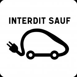 Panonceau stationnement véhicules électriques M6i