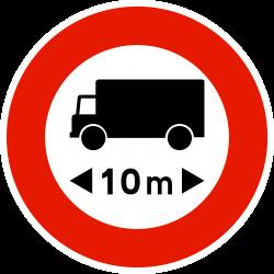 Panneau d'interdictionaccès interdit aux véhicules articulés B10a
