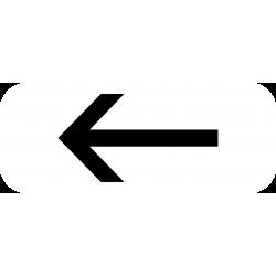 Panonceau prescriptions stationnement et arrêt M8e