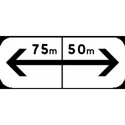 Panonceau prescriptions stationnement et arrêt M8fbis