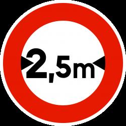 Panneau d'interdictionlimitation de largeur B11