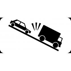 Panonceau heurt de véhicules lents M9j1