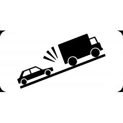 Panonceau heurt de véhicules lents M9j2