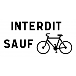 Panonceau prescription s'applique pas aux cyclistes M9v1