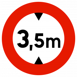 Panneau d'interdictionlimitation de hauteur B12