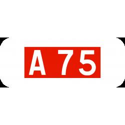 Panonceau numéro route autoroute M10a