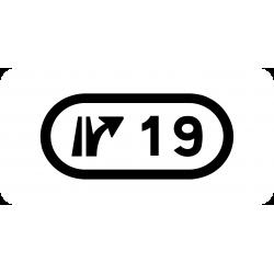 Panonceau indiquant le numéro échangeur M10b