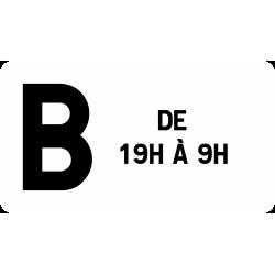 Panonceau catégorie d'un tunnel M11c2