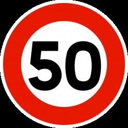 Panneau d'interdictionlimitation de vitesse B14