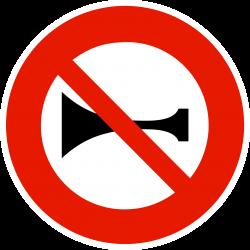 Panneau d'interdictionsignaux sonores interdits B16