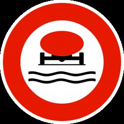 Panneau d'interdictionmatières polluantes pour les eaux B18B
