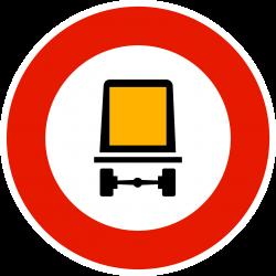 Panneau d'interdictionmatières dangereuses B18C