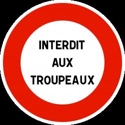 Panneau d'interdictionpersonnalisable B19