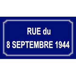 Panneau et plaques d'informations panneau de rue