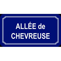Panneau et plaques d'informations plaque de rue