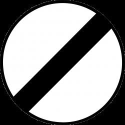 Panneau d'interdictionfin de toutes les interdictions précédemment signalées B31