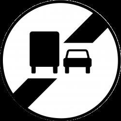 Panneau d'interdictionfin d'interdiction de dépasser B34a