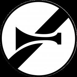 Panneau d'interdictionfin d'interdiction de l'usage de l'avertisseur sonore B35