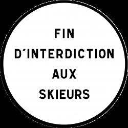Panneau d'interdictionfin d'interdiction personnalisable B39