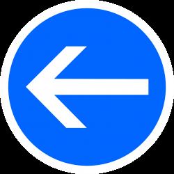 Panneau d'obligation obligation de tourner à gauche B21-2