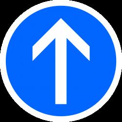 Panneau d'obligation direction tout droit B21B