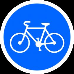 Panneau d'obligation zone cycliste obligatoire B22a