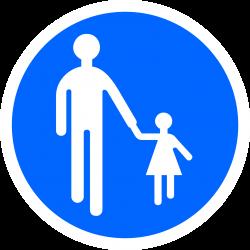 Panneau d'obligation chemin obligatoire pour piétons et réservée aux piétons B22B