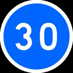 Panneau d'obligation vitesse minimale obligatoire B25