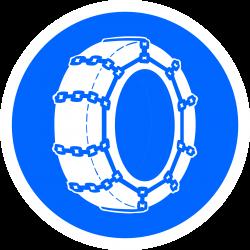 Panneau d'obligation chaînes à neige obligatoires B26