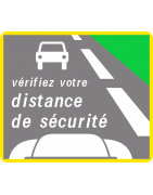 Panneaux d'information de sécurité routière