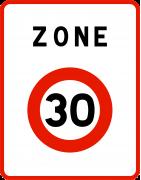 Panneau relatif aux zones de circulation